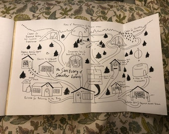 Sanctuary of Smaller Events: fiction zine with pull-out map