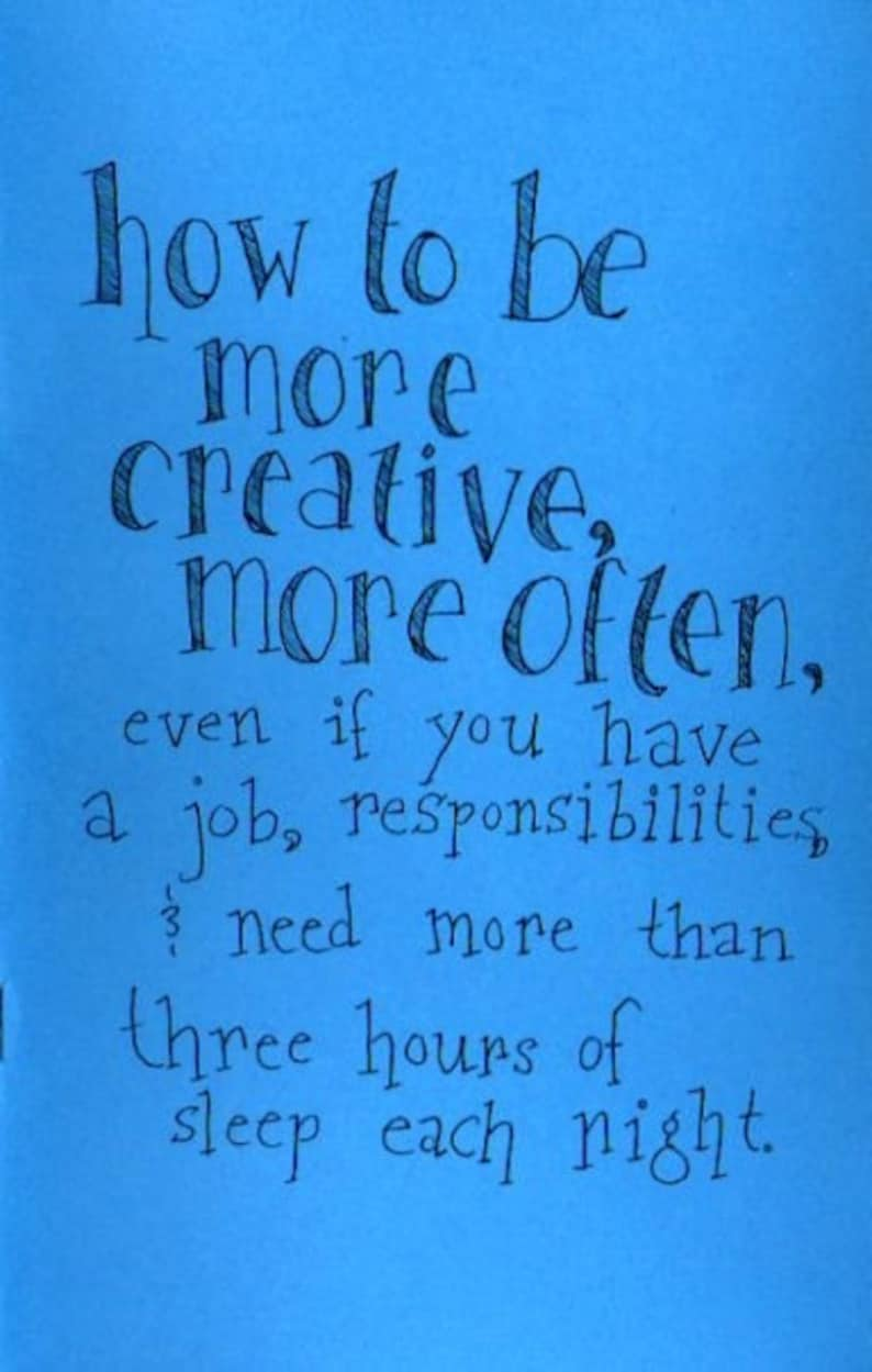 SALE: How to Be More Creative More Often  Creativity Zine image 0