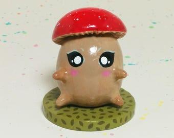 Mini Critter #9 - Mushroom Creature Figurine