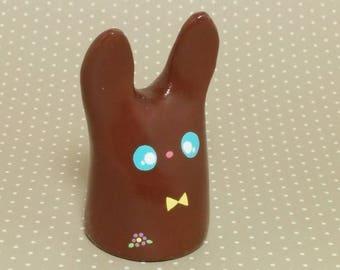 Chocolate Easter Bunny - Clay Figurine