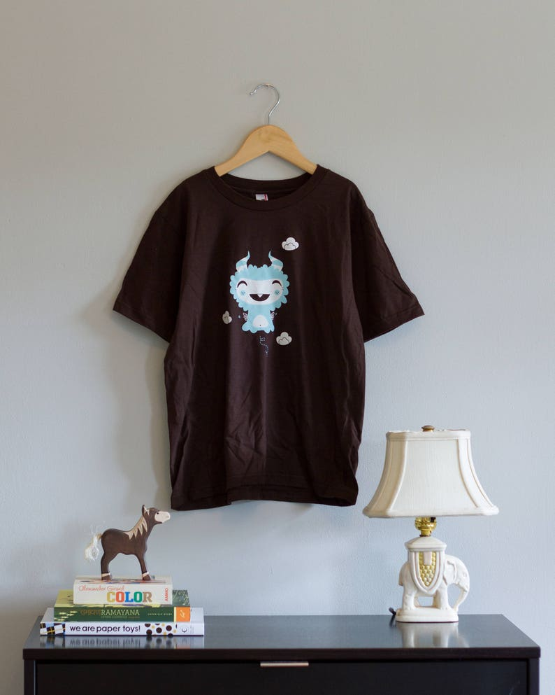 Flying Monster Youth Tee  Cute Monster Fantasy Tee image 0