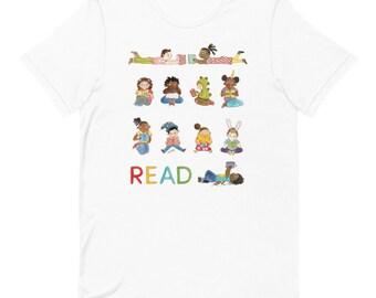 READ • Kids Reading Shirt • Cute Multicultural Shirt Print • Teachers • Librarians
