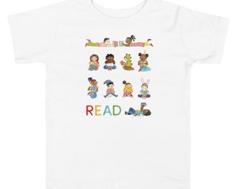 READ Toddler Tee • Kids Reading • Cute Multicultural Shirt