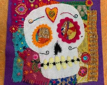 Honour - Embroidered appliqué original.