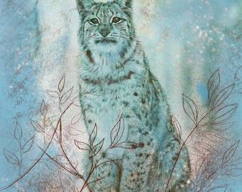 Winter Lynx Greetings/Note Card