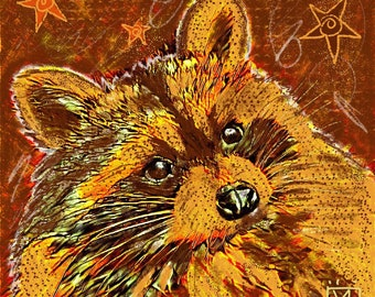 Ronnie the Raccoon Greetings/Note Card