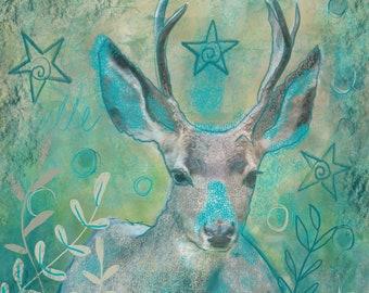 Woodland Deer Greetings/Note Card