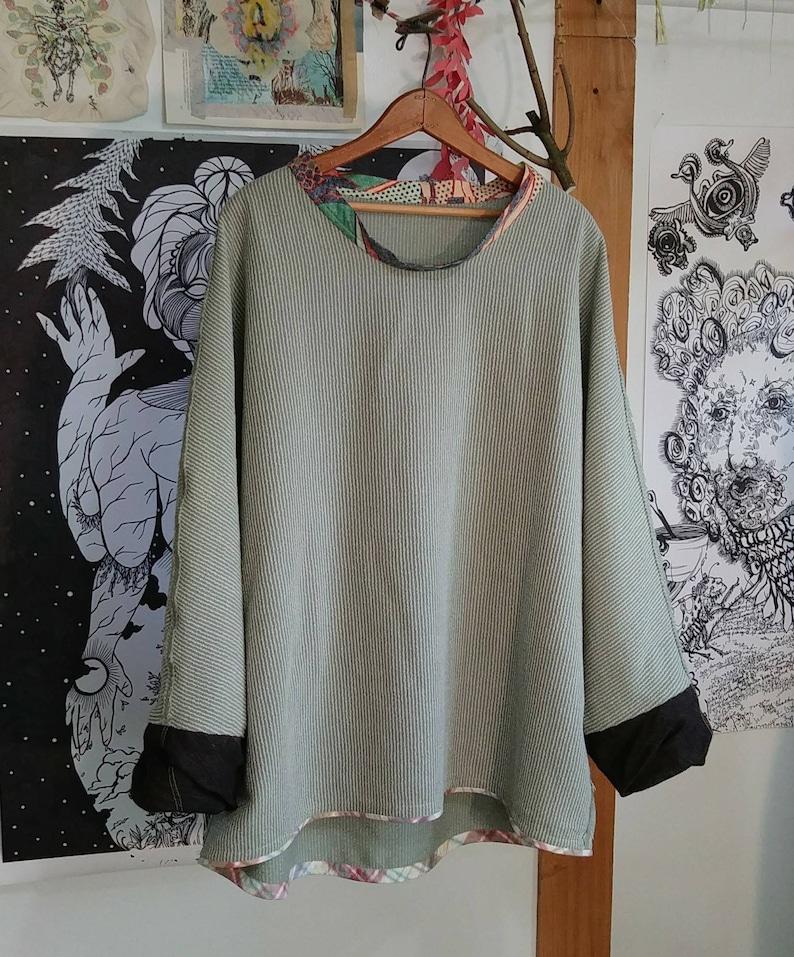 Celadon wool pullover image 0