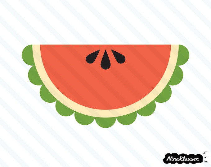 Watermelon wedge vector illustration - 0007