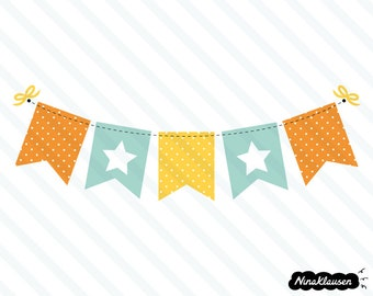 Bunting banner vector illustration - 0011