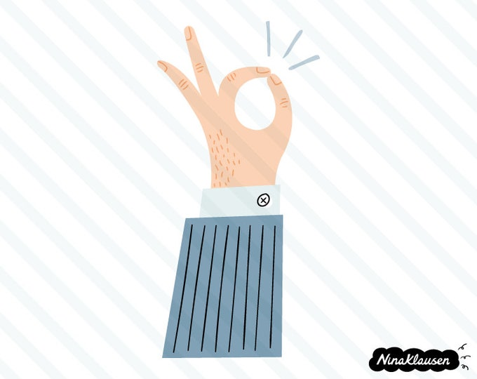 OK hand gesture vector illustration - 0055
