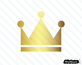 Gold crown vector illustration - 0042