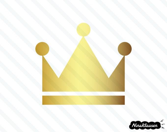 Gold crown vector illustration - 0042