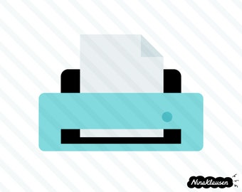 Desktop printer vector illustration - 0018