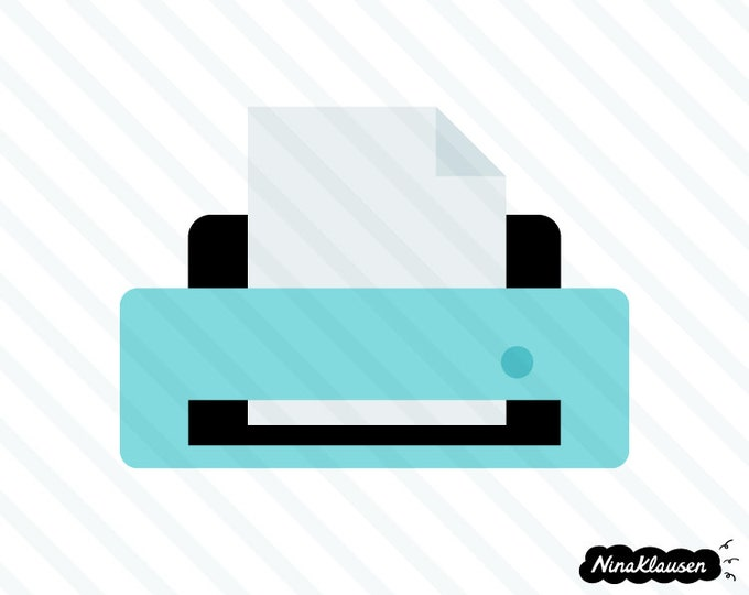 Desktop printer vector illustration - 0018