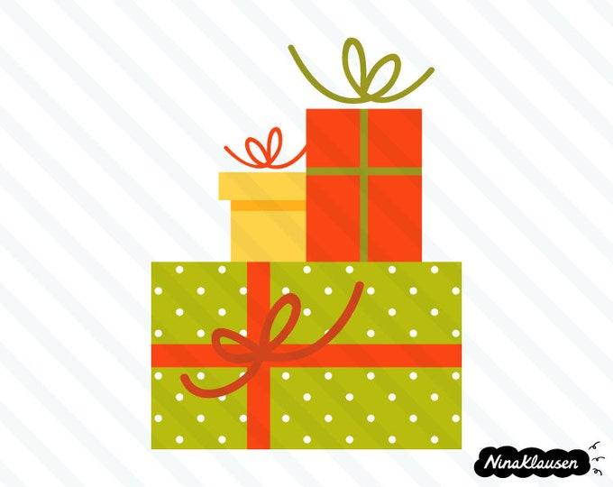Christmas gifts vector illustration - 0020