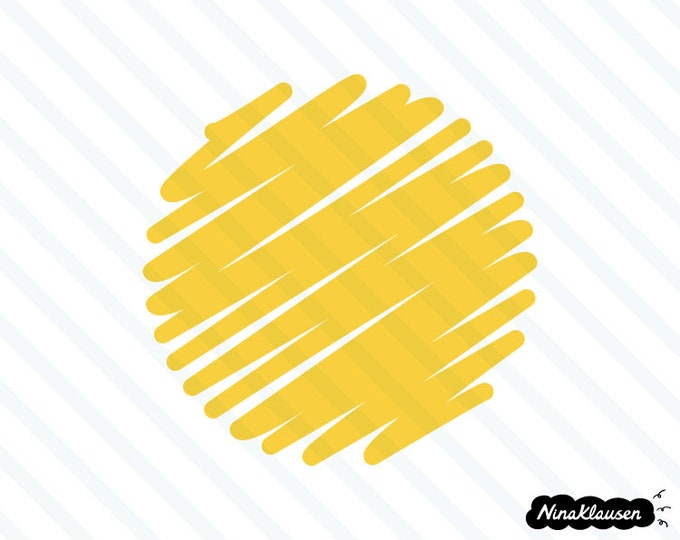 Round scribble tag vector illustration - 0016