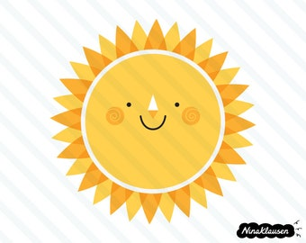 Happy sun vector illustration - 0012