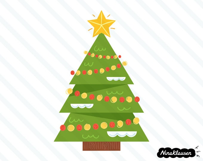 Christmas tree vector illustration - 0065