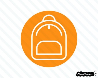 Round backpack icon vector illustration - 0008