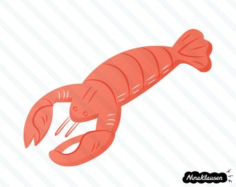 Red lobster vector illustration - 0037