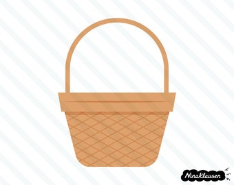 Wicker basket vector illustration - 0045