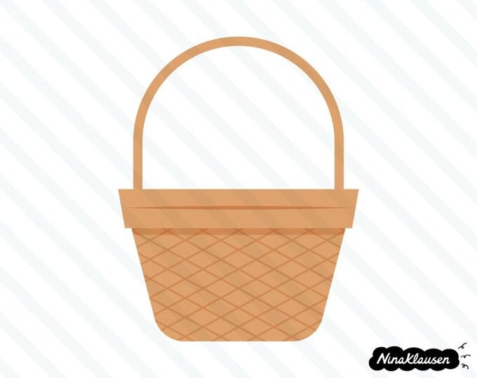 Wicker basket vector illustration - 0045