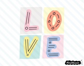 L O V E vector illustration | 0026