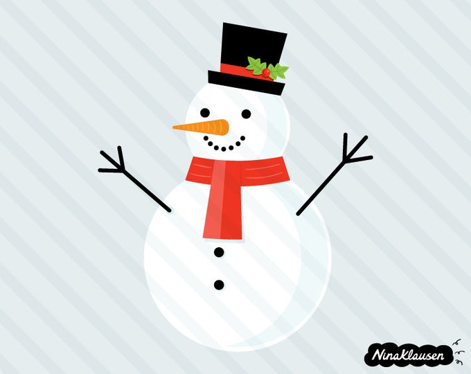 Snowman vector illustration - 0071