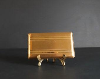 Vintage Elgin American Gold Tone Cigarette Case Art Deco Style