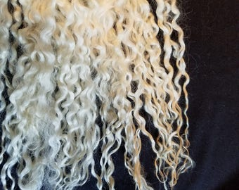 CRAZY Teeswater long wool locks 12+ inches tail spin doll hair dreadlocks embellishments