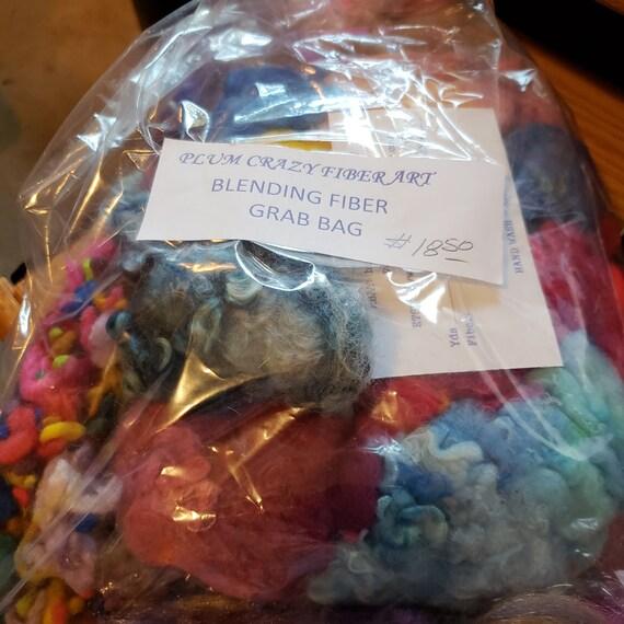 sparkles colors CRAZY Spinning Fiber Blending Grab Bag Felting mixed fibers