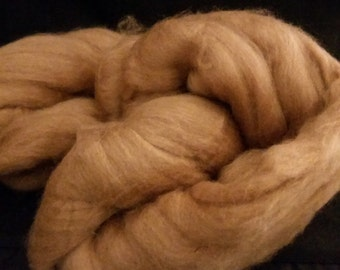 CRAZY Baby Camel combed top roving Golden Brown 16-18 microns 56 grams