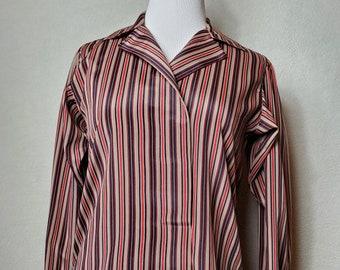 Vintage Evan Picone Petites striped blouse, petites, union label