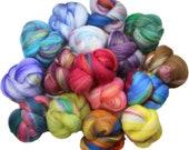 Lucky Dip Hodgepodge battlings mini batts (4 oz.) merino wool, silk, bamboo, etc.