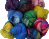 Lucky Dip Hodgepodge battlings mini batts (2 oz.) merino wool, tussah silk, bamboo, etc.