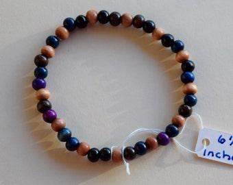 Wood bead bracelet multicolor