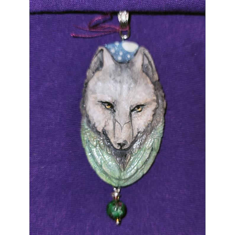 Wolf Handmade Face Pendant