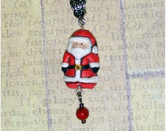 Adorable Tiny Hand Made Santa Claus Christmas Pendant