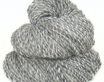 Handspun handdyed yarn Merino Corriedale wool tencel viscose faux cashmere sparkle