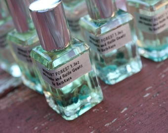 MIDNIGHT FOREST - Last Release -  Exotic Masculine Midnight Forest Cologne Infused with Apatite & Tourmilated Quartz Signature BethKaya