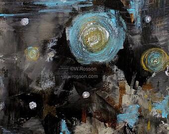 Galaxy, Original Abstract Painting, Stars, Planets, Space, Science, Original Art, Winjimir, Home Decor, Office, Wall Art, Wall Decor, Gift