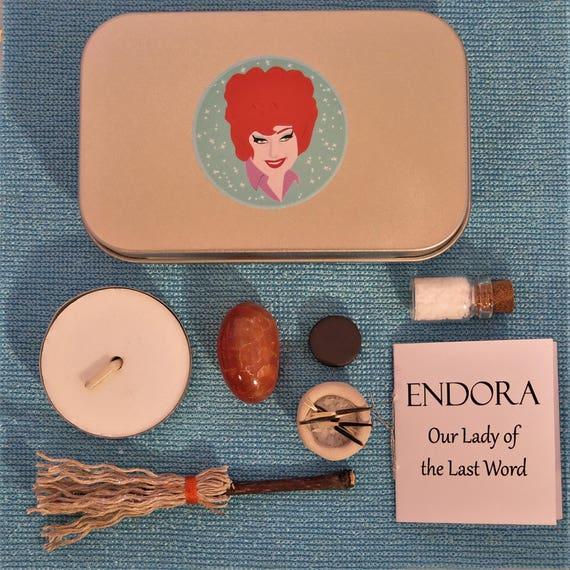 Endora Pop Altar Our Lady of the Last Word Pocket Shrine