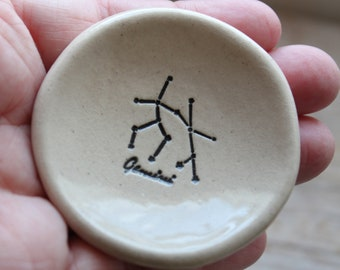 Gemini Zodiac Constellation Pottery Ring Dishes - 1-2 weeks for delivery