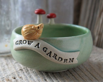 GROW A GARDEN Hedgehog Bowl - Ring Dish - 3 to 5 Weeks for Delivery  - Mother's Day Gift - Spring Gift