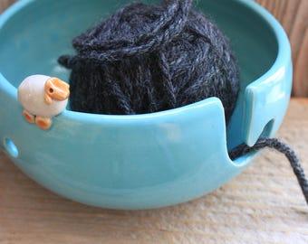 Handmade Sheep Yarn Bowl - Custom Made 4-6 Weeks- Winter Gifts  - Mother's Day Gift - Spring Gift