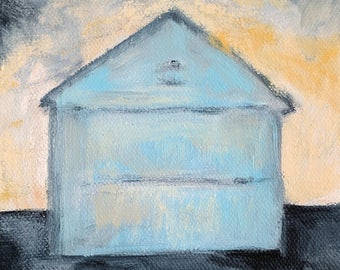 Barn painting print of original oil painting Little Turquoise Barn