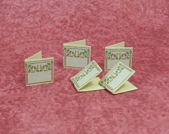 Dollhouse Miniature Art Nouveau Note Card Set