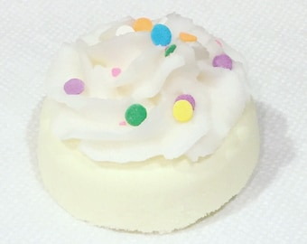 Donut Bath Bomb Fizzy - Sugar Cookie  with bath melt frosting.  Gift for her. gift for woman. gift for friend. Gift for teen. Holiday gift.