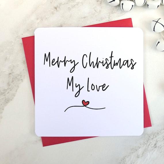 Merry Christmas My Love.Merry Christmas My Love Husband Card Wife Card Fiancee Card Fiance Card Love Christmas Card Script Card Husband To Be Card Uk Seller